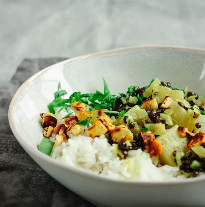 Ananas Curry mit Linsen – schnelles Mittagessen