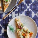 Fenchelpizza vegetarisch