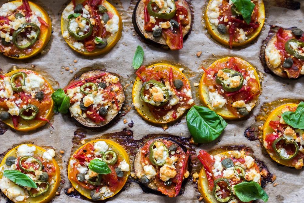 low carb Zucchinipizza
