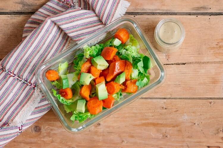 Salat mit Ofengemüse einfach