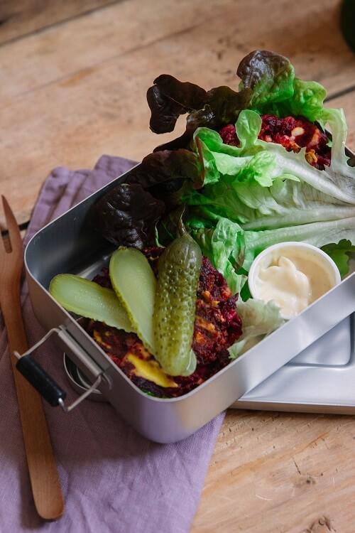 Meal Prep Rezept für 2 Tage: Kombi mit Salat und Rote Bete zum gesund Kochen für 2 Tage