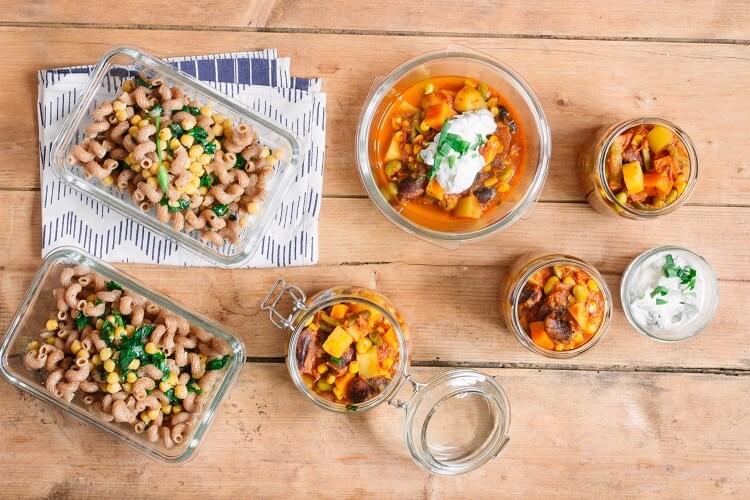 Zum Ende der Bärlauch Saison: Pasta mit Kichererbsen und Chili sin Carne