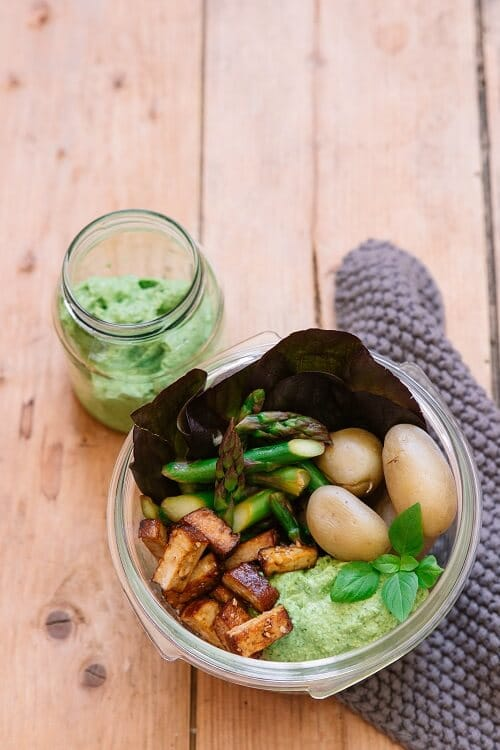 Avocado Pesto vegan selber machen für Buddha Bowls