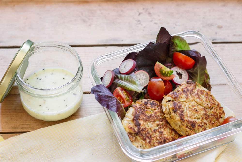 Kohlrabibratlinge als Food Prep