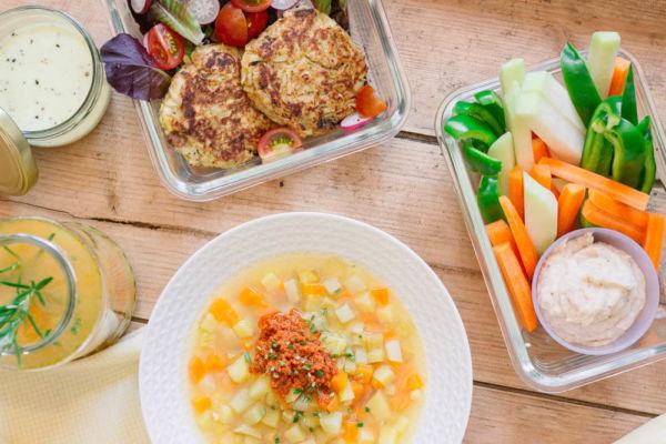 Food Prep mit Kohlrabi - gesundes Meal Prep