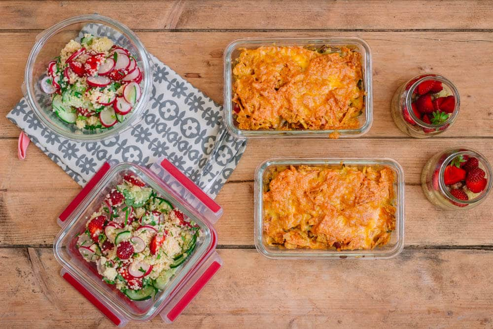 Meal Prep vegetarisch mit 6 Portionen