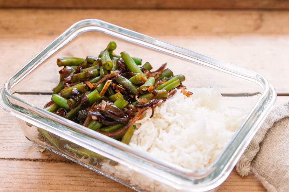 Bohnen-Teriyaki-Pfanne als Meal Prep Gericht