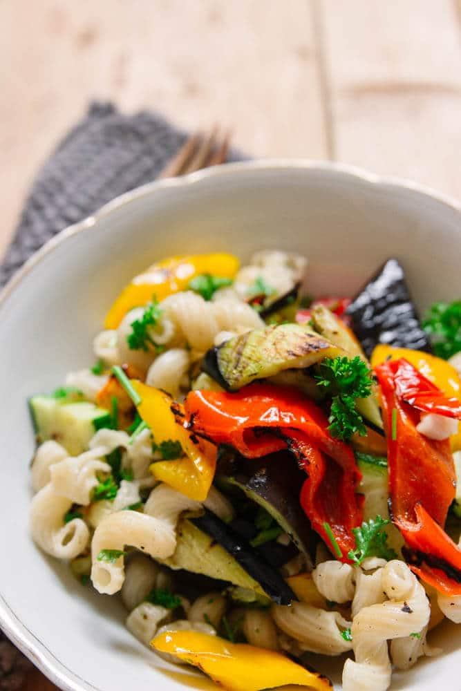 Nudelsalat mit Gemüse - Grillrezept