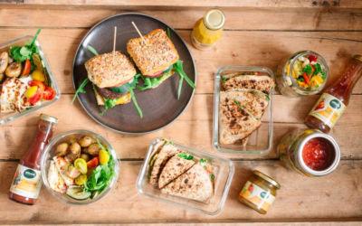[Anzeige] Vier vegetarische Grillrezepte als Meal Prep mit den köstlichen Grillsoßen von Naturata