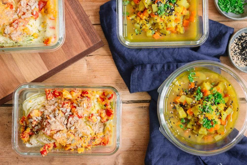 Meal Prep Gerichte vorbereiten