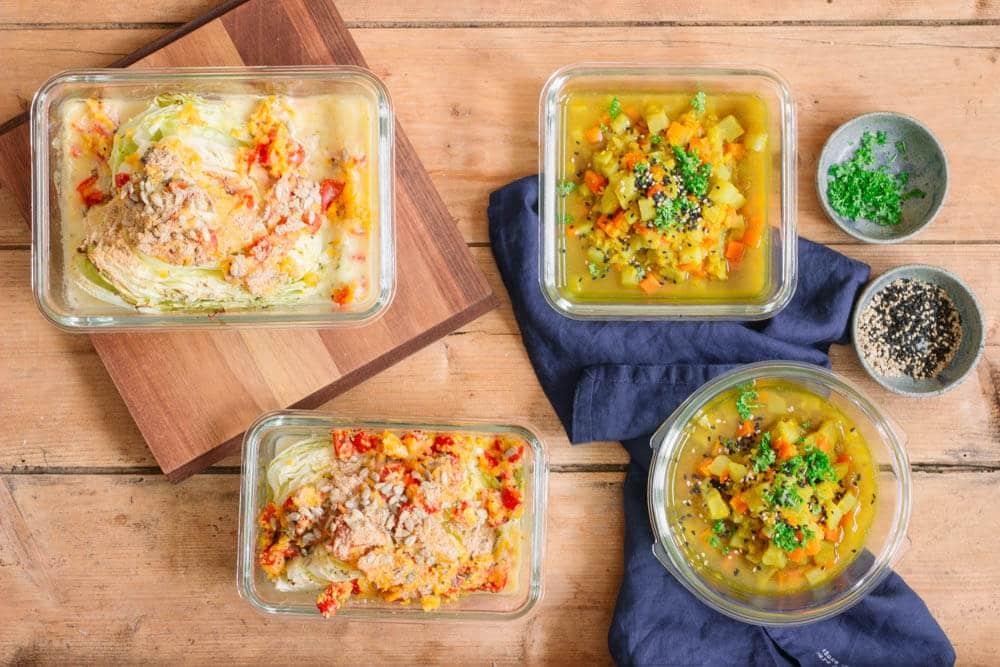 Essen vorbereiten: Meal prep für die Arbeit und Gäste