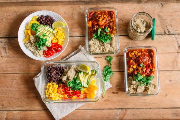 Meal Prep Rezepte vegan - 5 Portionen
