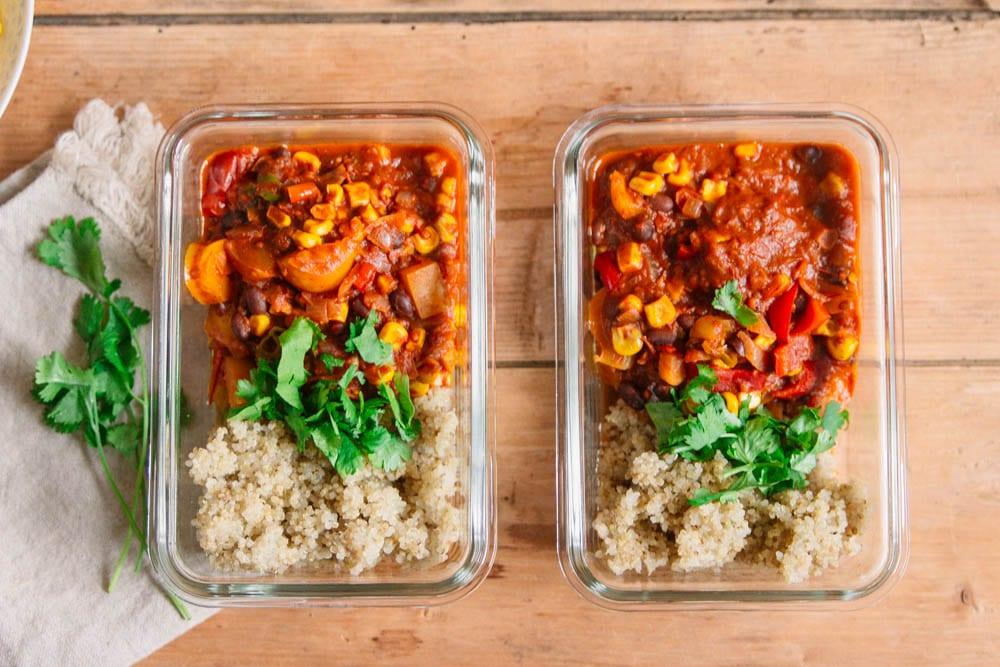 Meal Prep Rezepte vegan - Chili sin Carne