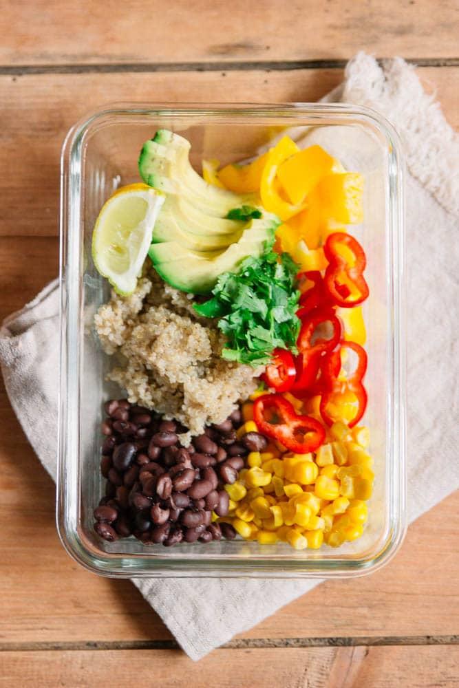 Buddha Bowl als veganes Food Prep