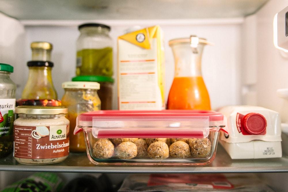 Meal Prep Snacks im Kühlschrank oder Freezer aufbewahren