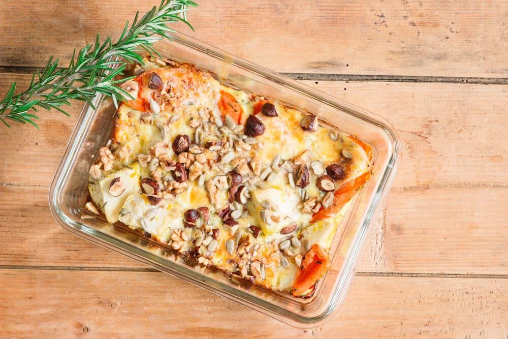 Gesundes Essen vorbereiten - Sellerieauflauf