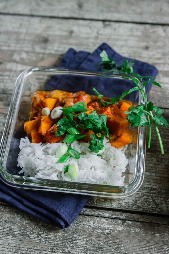 Meal Prep für Anfänger - Kürbischili in Glasdose