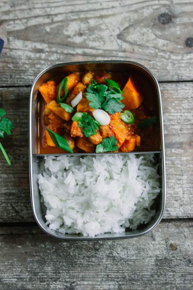Kürbis Curry als Meal Prep Anfänger Gericht