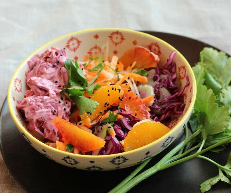 Bunter Wintersalat oder Salatbaukasten für jederzeit