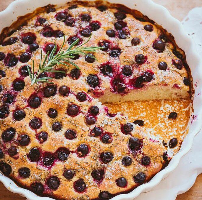 Traubenkuchen mit Anis und Rosmarin oder warum man mit Weintrauben auch backen kann